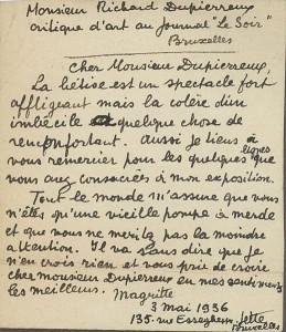 Ecrire le biographique! Lettre-de-Magritte-259x300